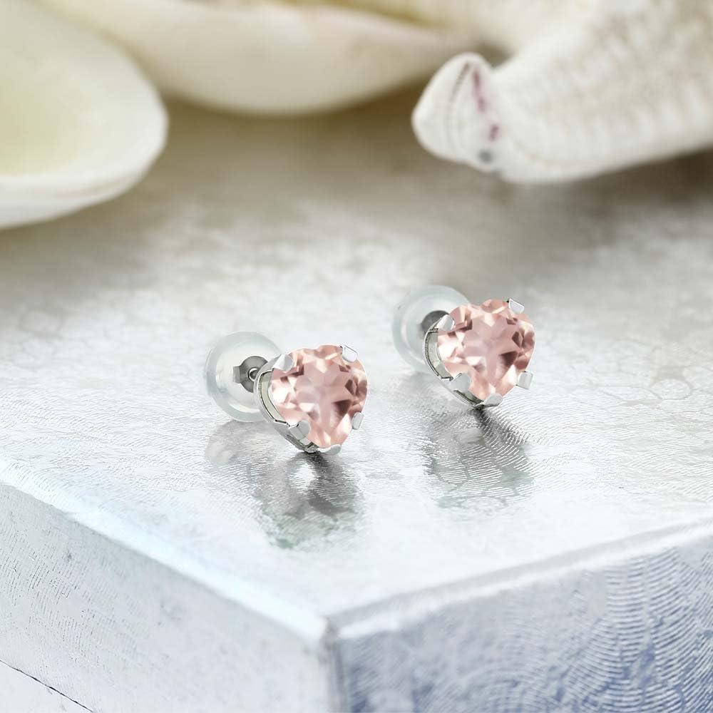 rose quartz natural stone stud earrings in sterling silvergenuine gemstone earringshalo studsstudded with white topazgift for mother her