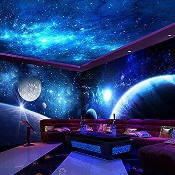 Lzhenjiang Papiers Peints Plafond En Tissu De Soie De L Univers 3d