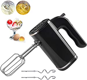 QAZWSX Hand Mixer Electric Beater Turbo Function 5 Speeds with 4 Accessories Professional 200W Milk Frother for Kitchen Baking Cake Egg Cream Food Beater,A