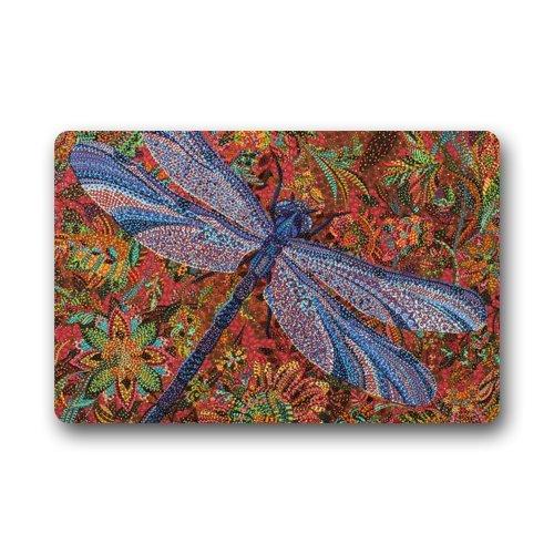 """Dragonfly Doormats Fashionable Design, Indoor/Outdoor Floor Mat 23.6""""(L) x 15.7""""(W)"""