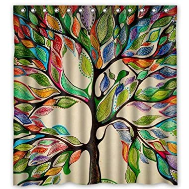 Tree of Life Gorgeous Like Leather 66 (w) x 72 (h) Bath Shower Curtain