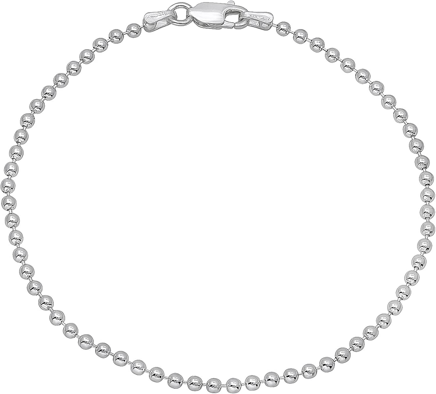 """925 Sterling Silver 4mm Italian Round Rolo Cable Link Chain Bracelet 7/"""" 8/"""""""