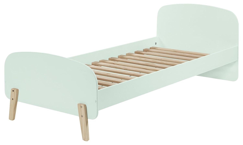 Vipack Kiddy Einzelbett, Liegefläche 90 x x 200 cm, Holzwerkstoff, hellgrau, 205 x x 94 x 72 cm 4acb16