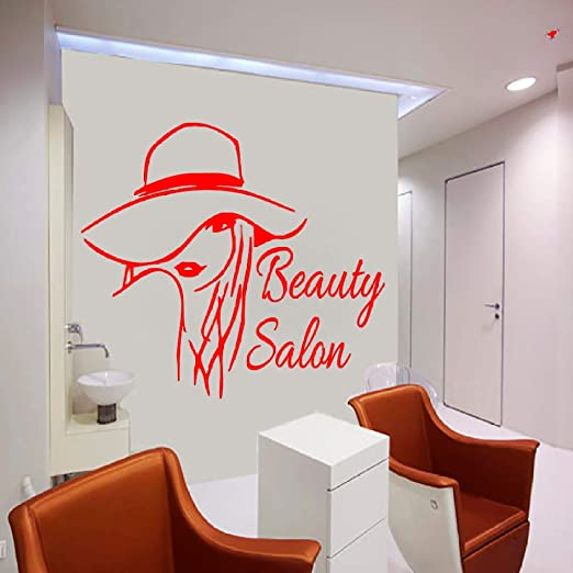 yaoxingfu Art Decor Beauty Salon Wall Sticker Girl Outline Vinyl ...
