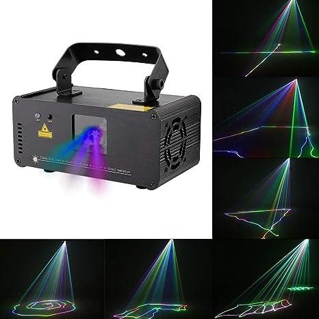 Luces del disco Luces del partido Efecto 3D remoto DJ Control ...
