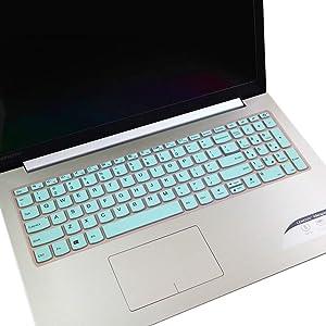 "Keyboard Cover for 2020 2019 New Lenovo IdeaPad 15.6"" 17.3"" 320 330 330s 340s 520 S540 720s 130 S145 L340 S340 V330 V130 Keyboard Protective Skin [with Numeric Keypad] -Hot Blue"