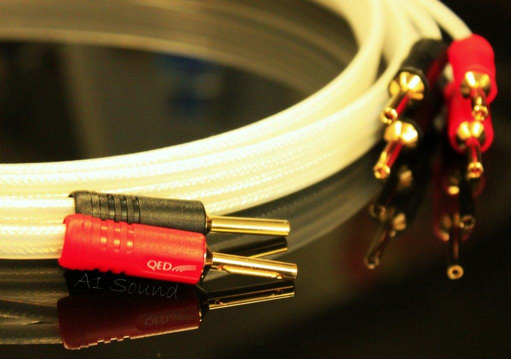 QED Silver Anniversary XT - Cable para altavoces 5 Metre longitud única terminación con conectores Airloc Forte 2 x 4 mm ABS amplificador final a 4 X 4 mm ...