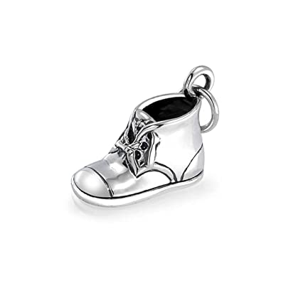Amazon.com: Bling Jewelry Baby Bootie Sterling Silver Baby Shoe ...