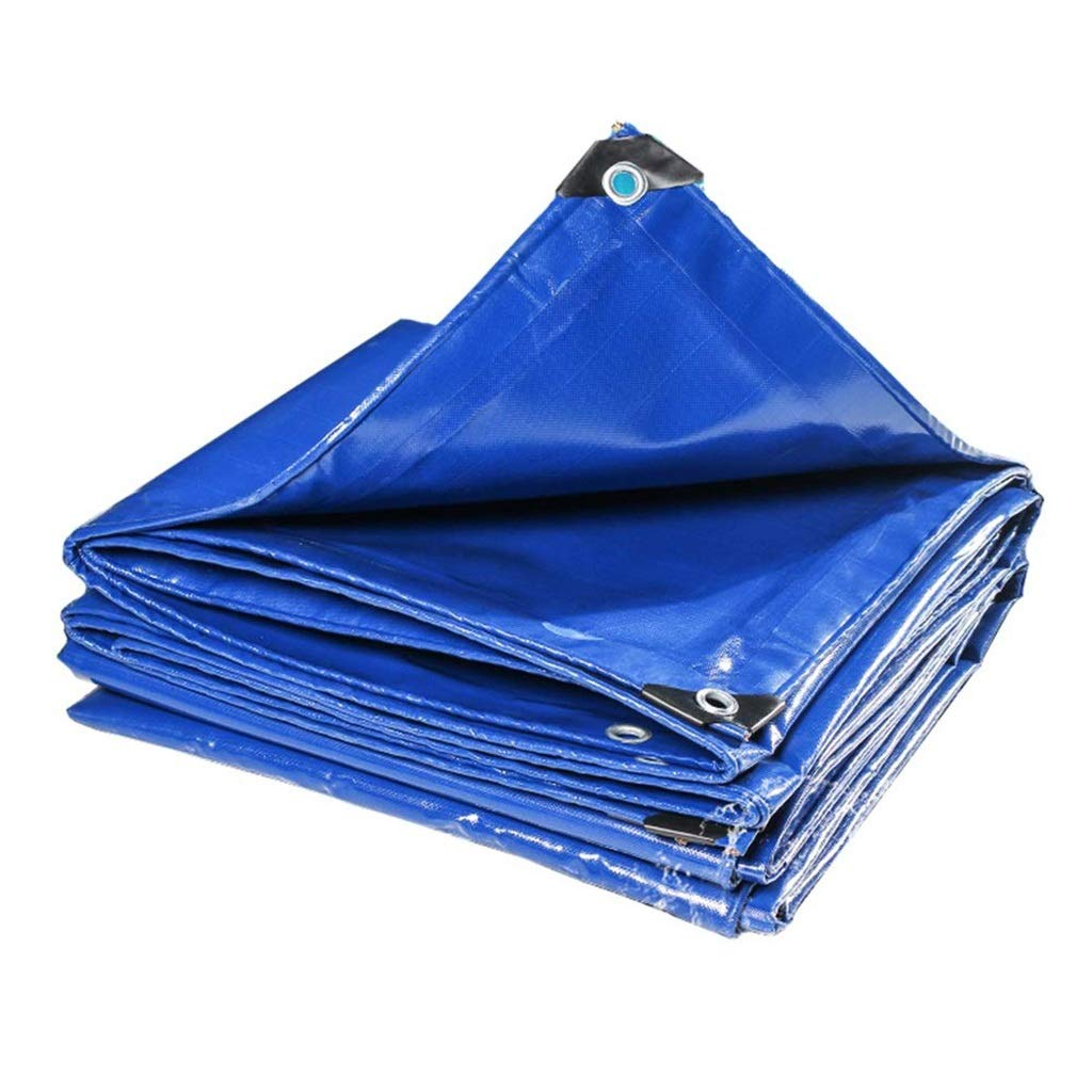 ターポリン アイレットが付いている頑丈なポリ塩化ビニールの防水シート、防水日焼け止めシートの防水シート、耐リッピング性の雨防止車の小屋の布 - 500g / mの²、青 (サイズ さいず : 3mx3m) B07SBSXR92  3mx3m