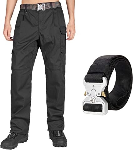 Ex Police Black 100/% Nylon Overtrousers With Elasticated Waist