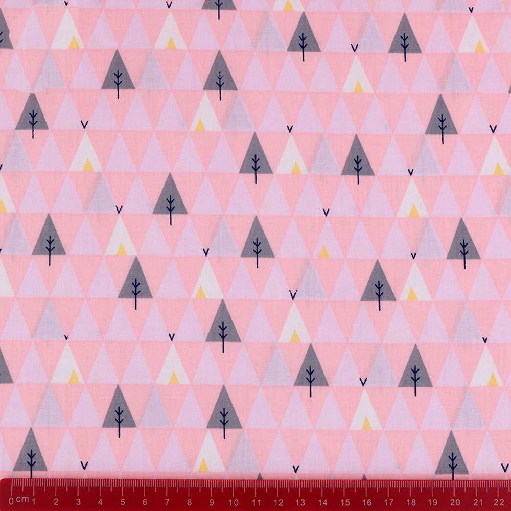 Approx 18 x 22 6Pcs Cartoon Animals Multi Color 100/% Cotton Print Fabric Fat Quarter Bundle 46cm x 56cm Patchwork Sewing Quilting Fabric