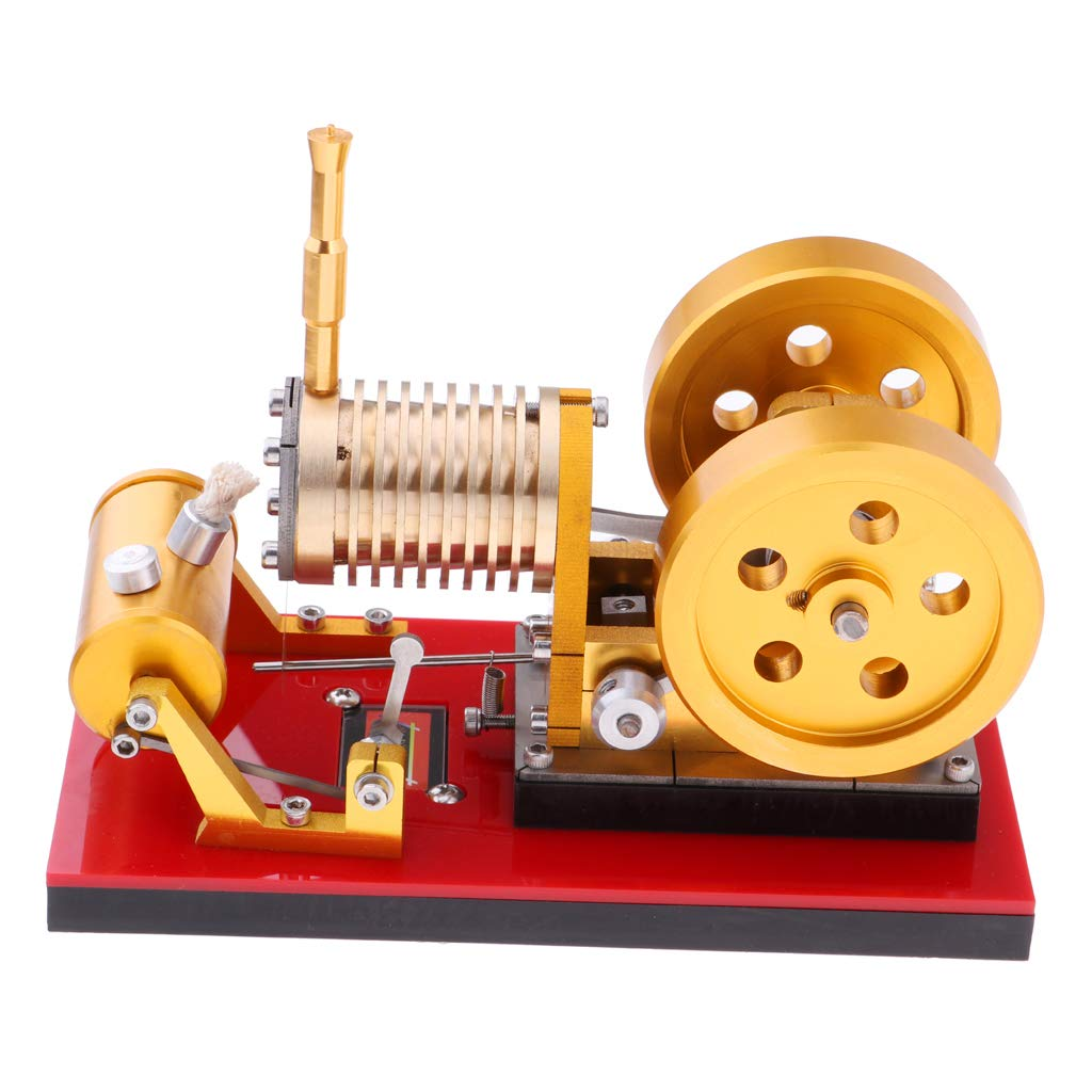 Fityle Flame Licker Eater Pattern Double-flywheel Stirling Engine Motor Hot Air Steam Power Generator Model Physical Experiment