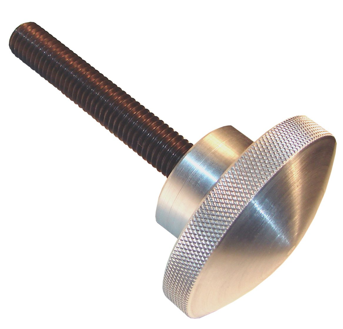 Morton Aluminum Domed Knurled Knob Assemblies, Inch Size, 3/8-16 Thread Size, 3'' Thread Length