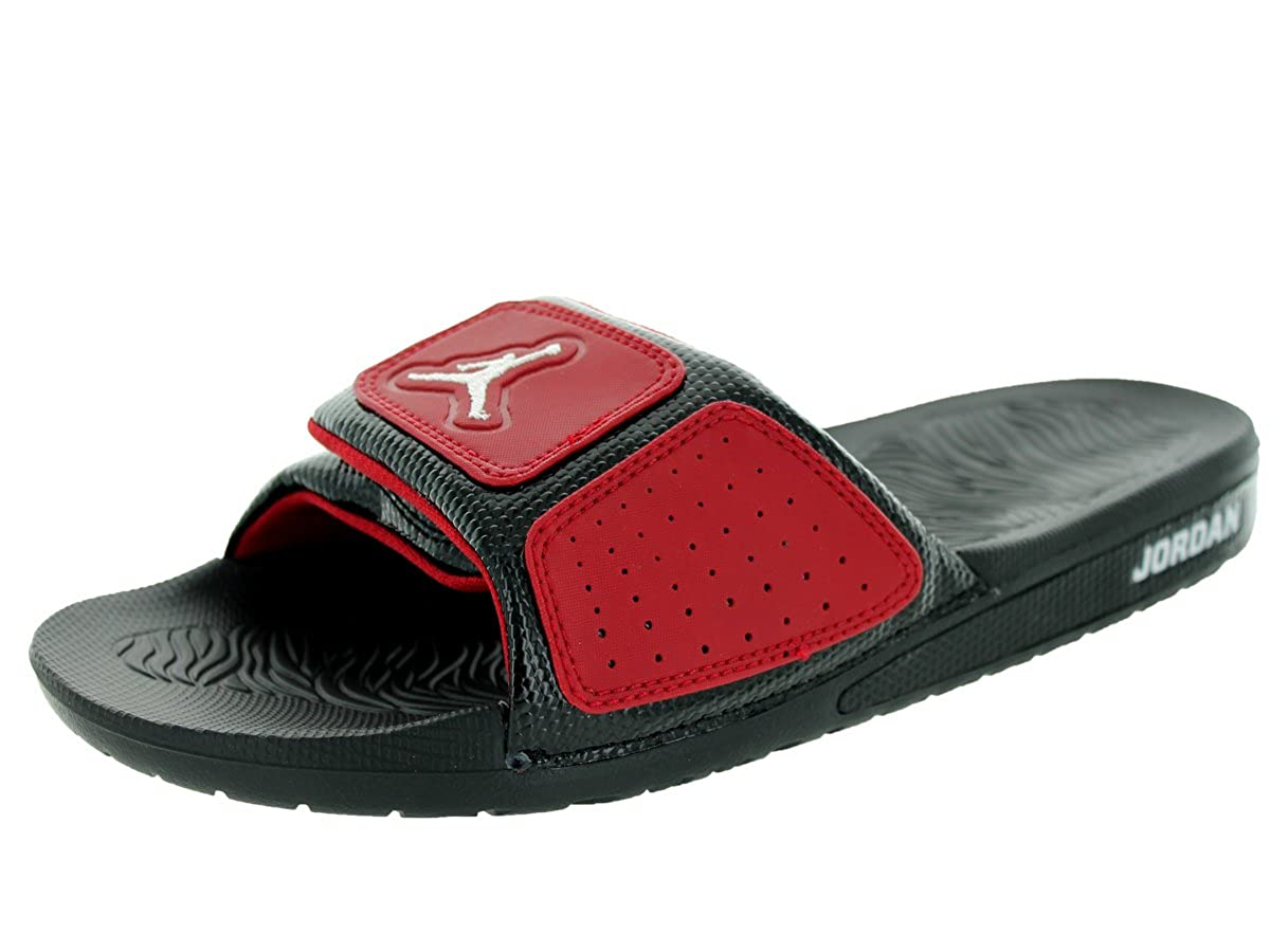 c951725d0141 Nike Jordan Hydro 3 Men Sliders Black Gym Red White 630754-002 (Size  7)   Amazon.co.uk  Shoes   Bags
