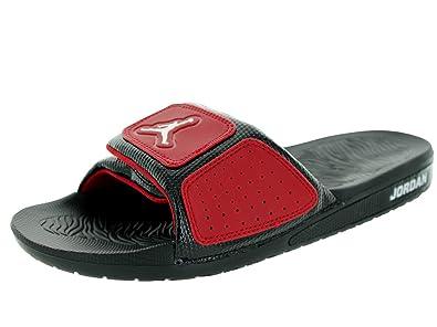 6c0c5fe46581c0 Nike Jordan Hydro 3 Men Sliders Black Gym Red White 630754-002 (Size ...
