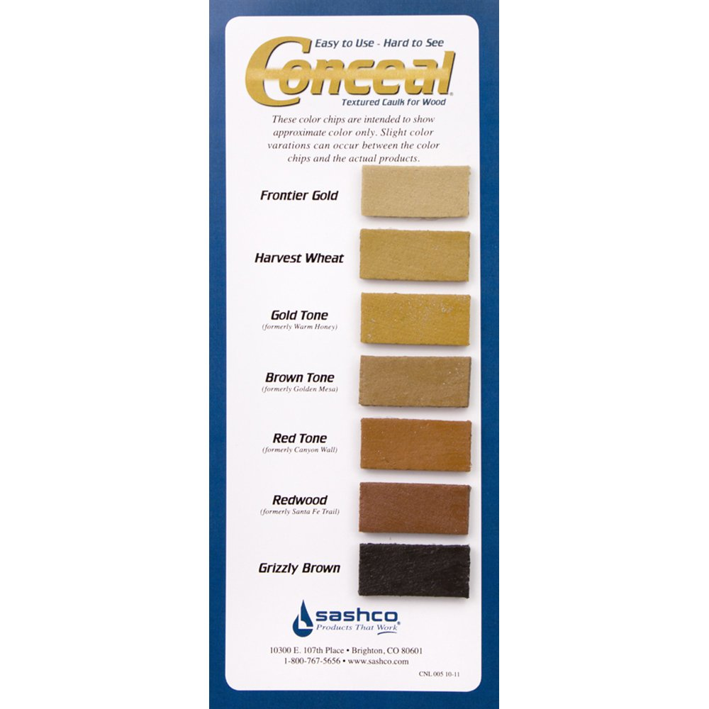 Sashco Conceal Textured Wood Caulking, 10.5 Ounce Tube, Goldtone (Pack of 12) by Sashco (Image #4)