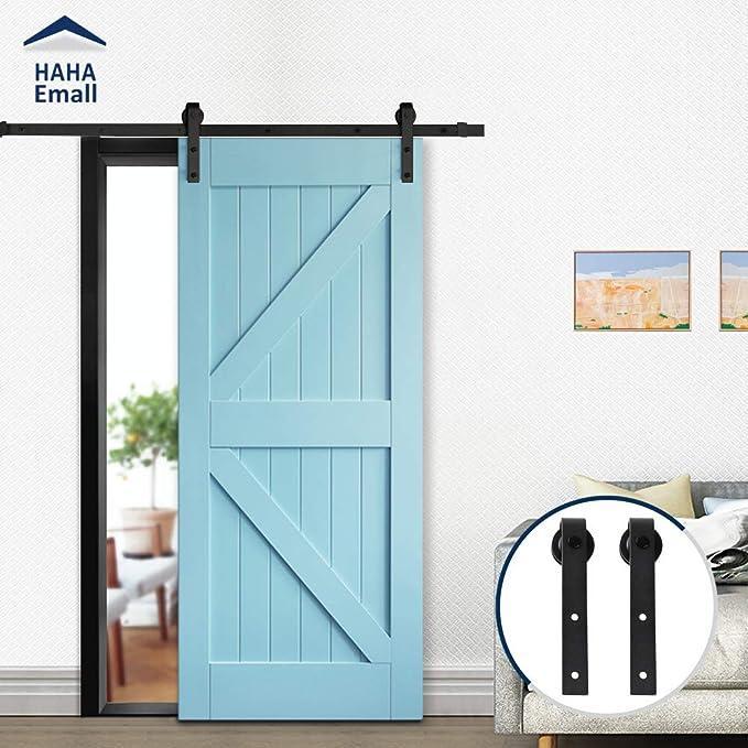 Hahaemall - Kit de riel plano para puerta corredera, diseño ...