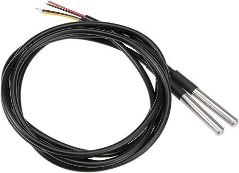 Waterproof Digital Thermal Probe or Sensor DS18B20 Length:1M