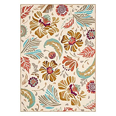 Safavieh Four Seasons Collection FRS475A Hand-Hooked Ivory and Grey Indoor/ Outdoor Area Rug
