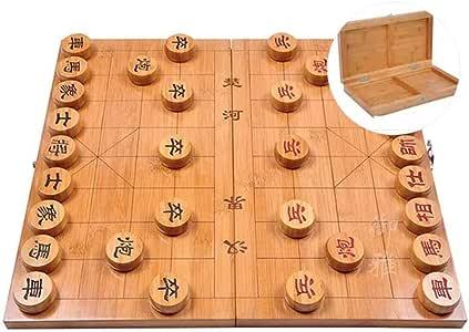 GZ Juego de Mesa Xiangqi Juego de ajedrez Chino con doblan al Tablero, Juegos de Estrategia for 2 Jugadores (Size : 6cm/2.4