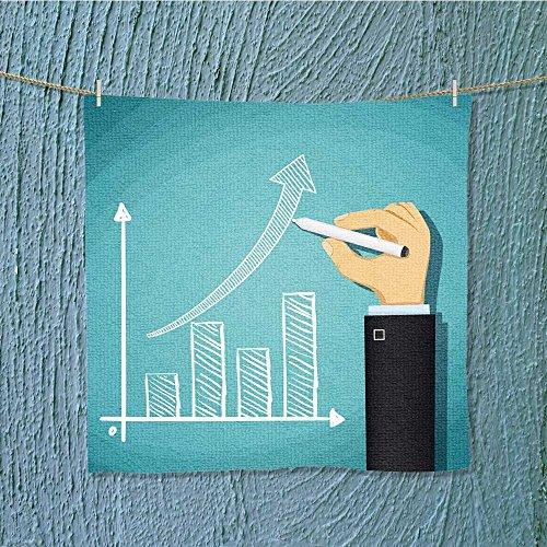 absorbent towelhuman drawn growth chart success in cartoon Soft Cotton Durable W9.8