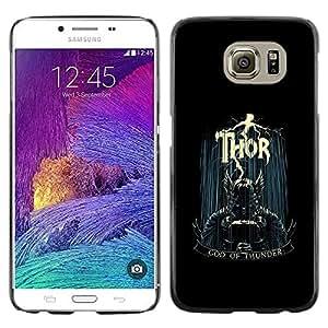 Be Good Phone Accessory // Dura Cáscara cubierta Protectora Caso Carcasa Funda de Protección para Samsung Galaxy S6 SM-G920 // God Of Thunder