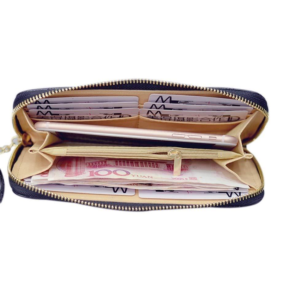Amazon.com: Women Lady Leather Long Wallet Tassel Purse ...