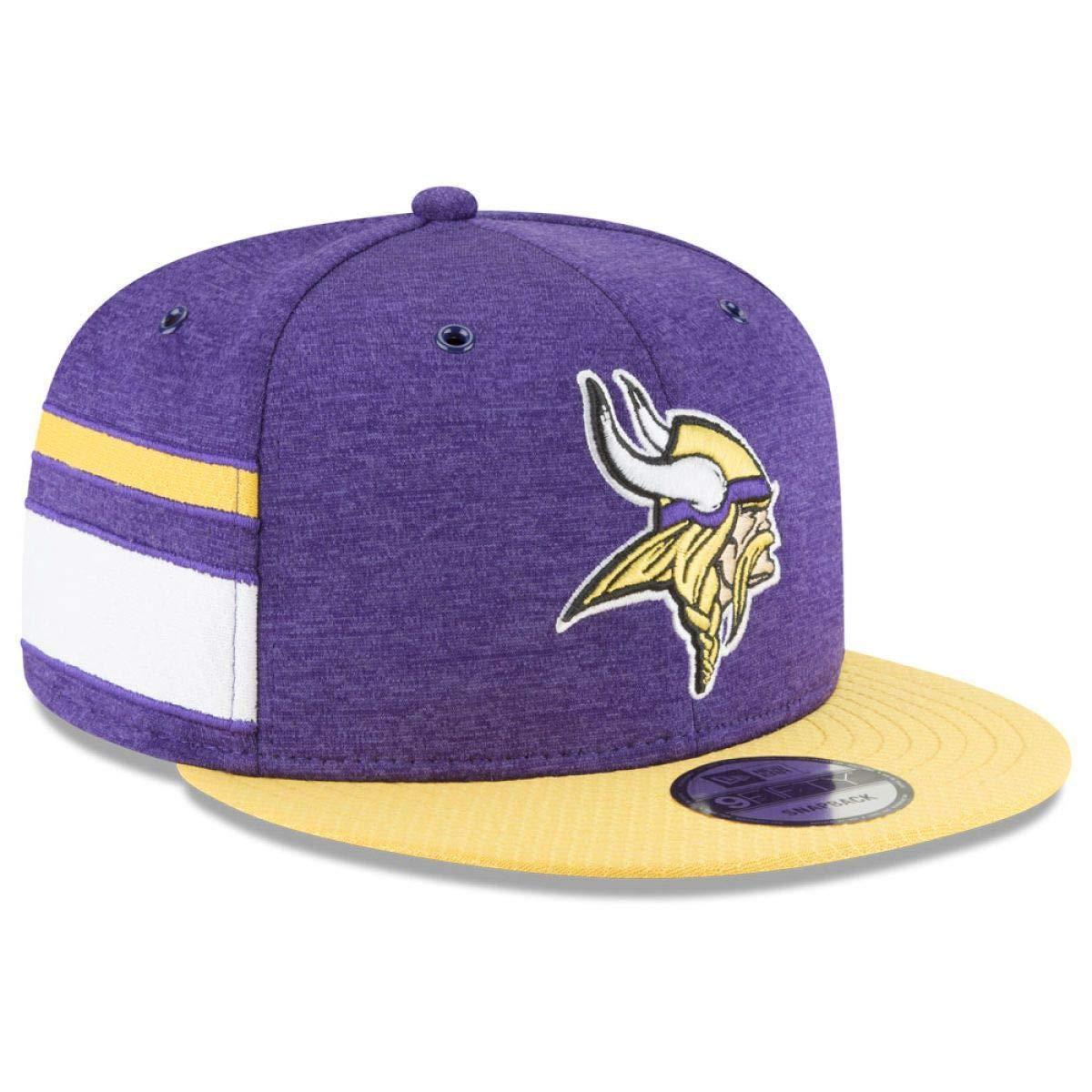 acd8da9fb Amazon.com  New Era Minnesota Vikings 2018 NFL Sideline Home Official  9FIFTY Snapback Hat Purple  Sports   Outdoors