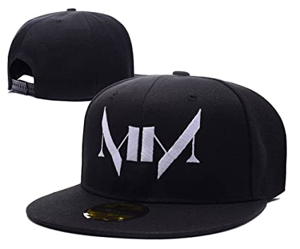 Amazon.com  Marilyn Manson Logo Adjustable Snapback Caps Embroidery ... 72fb8aed105