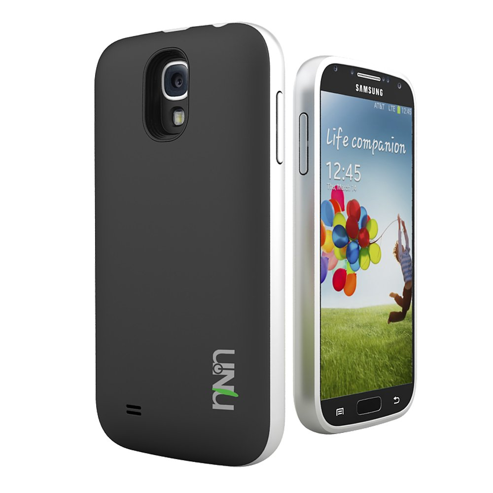official photos 47d42 6dc1a uNu Unity Samsung Galaxy S4 Battery Case [Black/Silver] - External Slim  Protective Battery Case Cover for...