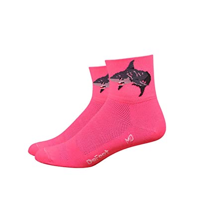 "DEFEET Pink 3"" Aireator Attack Women's Road Mountain Cycling Running Spinning Sock Made in the USA: Sports & Outdoors"