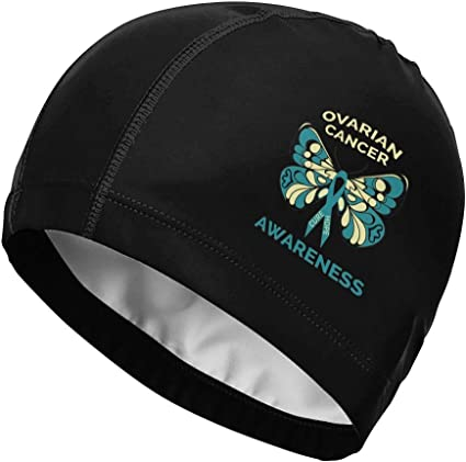 Amazon Com Fkahq Ovarian Cancer Awareness Butterfly Teal Ribbon Spandex Adult Swimming Hats Unisex Swim Caps High Elasticity Breathable Side Printing Sports Outdoors