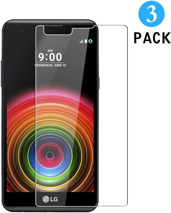WEOFUN 3 Unidades LG X Power Protector de Pantalla, Cristal ...