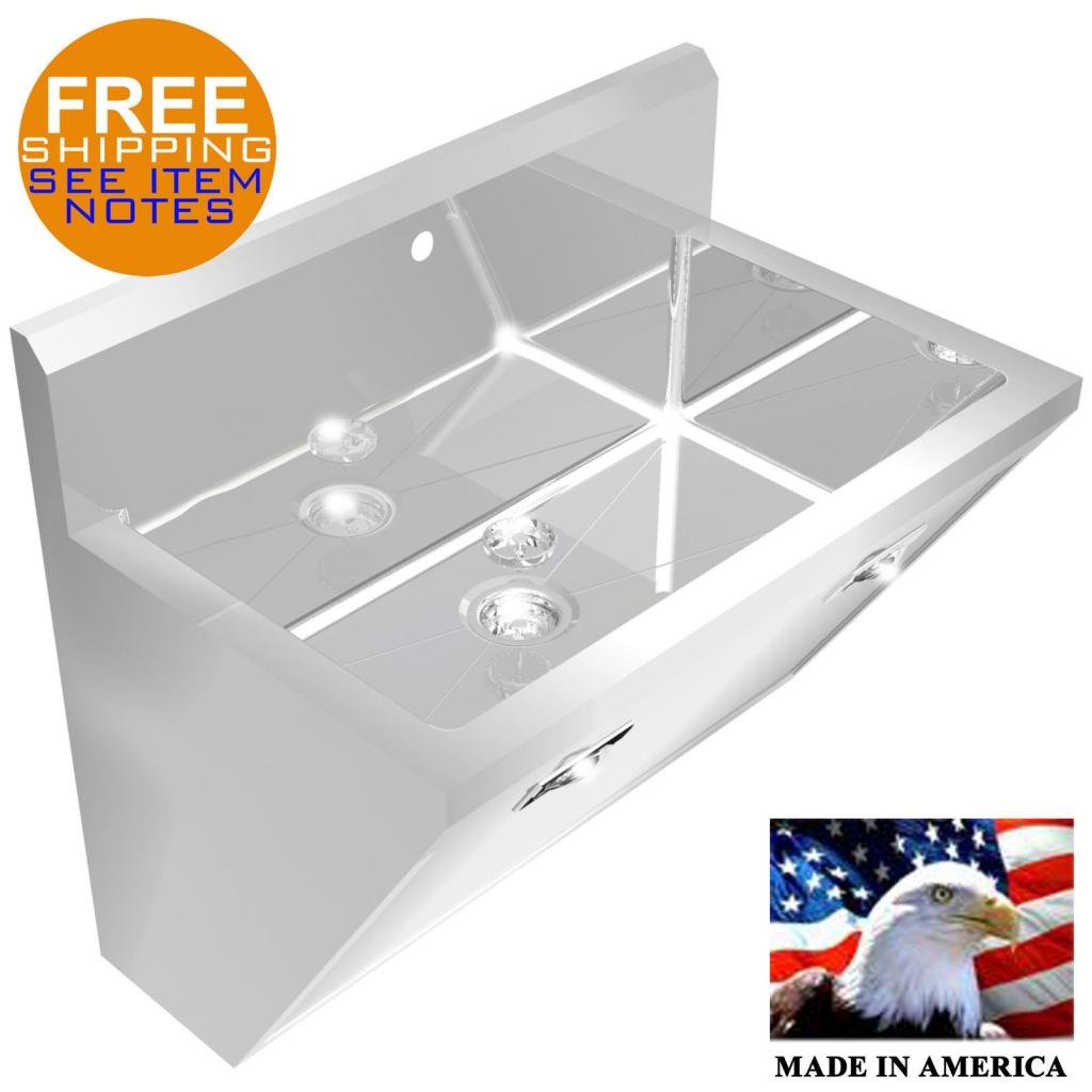SURGEON'S CHASSIS HAND SINK 1 STATION SINK ONLY 36'' STAINLESS STEEL HANDS FREE