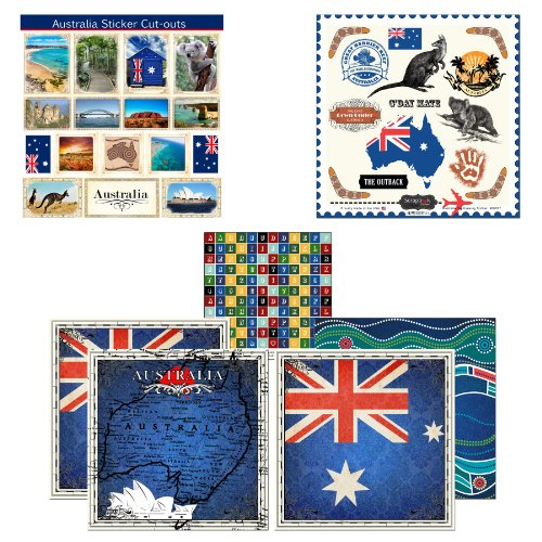 Scrapbook Customs Themed Paper and Stickers Scrapbook Kit, Australia - Australia Custom