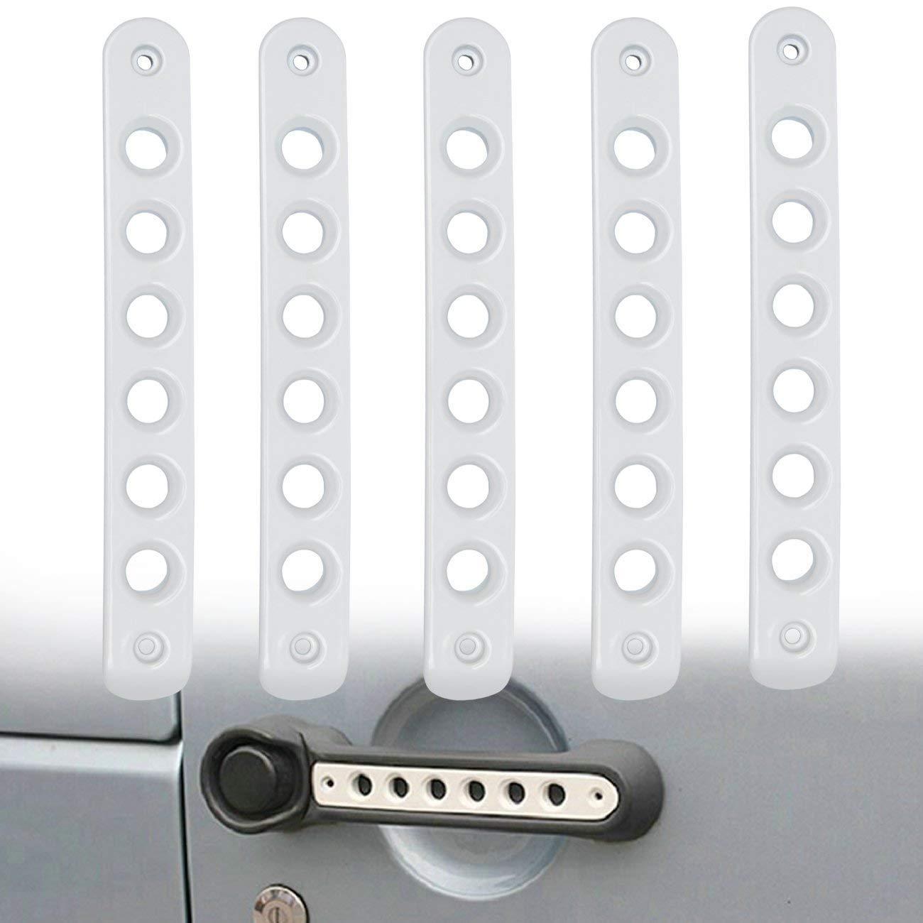 Danti 4 Door Front Door /& Back Door Aluminum Grab Handle Cover for Jeep Wrangler JK /& Unlimited 2007-2017 5pcs//Set Silver