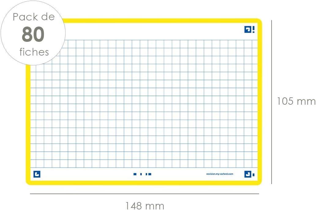 Oxford Flash 2.0 Flashcards A6 105x148mm Liniert Orange 80 St/ück