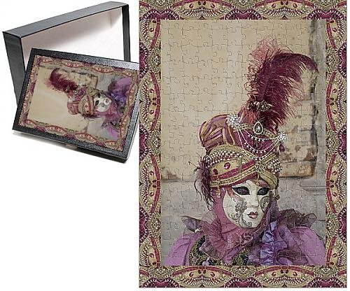[Photo Jigsaw Puzzle of Elaborate costume for Carnival Venice Italy] (Venice Carnival Costumes Patterns)