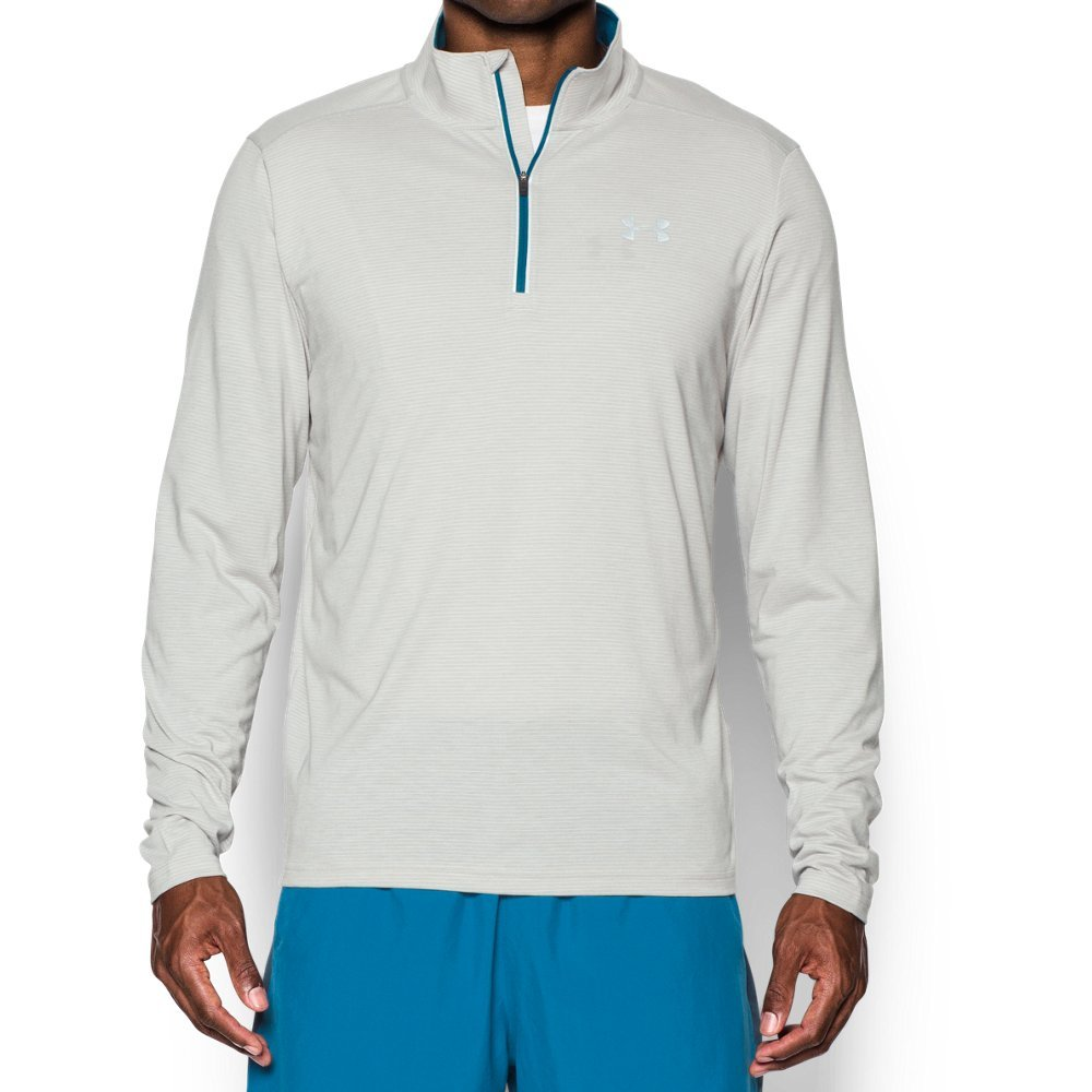 Under Armour Men's Streaker Run 1/4 Zip, Air Force Gray Heath/Peacock, Small by Under Armour (Image #1)