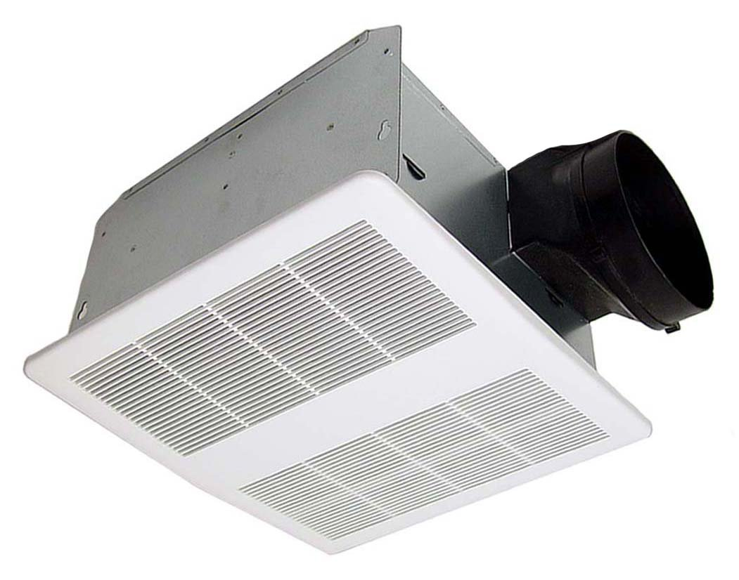 KAZE APPLIANCE SE90T Modern Ultra Quiet 90-CFM 0.3-Sones Bathroom Exhaust Fan, White