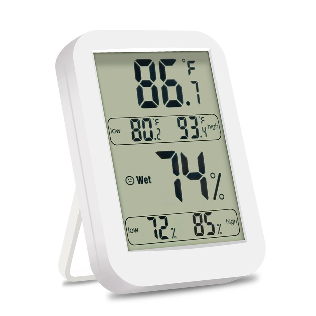 iFeng Indoor Thermometer Hygrometer, Digital Temperature Humidity Monitor Meter with LCD Screen ℃/℉ Switch for Home, Office, Kicthen, Warehouse, Greenhouse