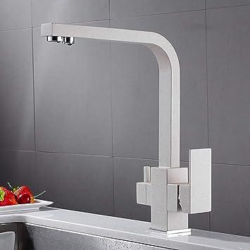 Gire el purificador de agua Grifo de la cocina Negro/cromo/harina ...