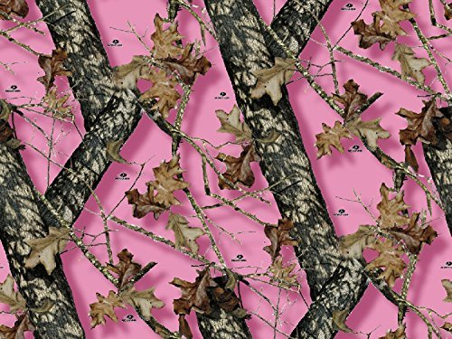 Mossy Oak Pink Camo Branch Edible Cake Topper Frosting 1/4 Sheet Birthday Party