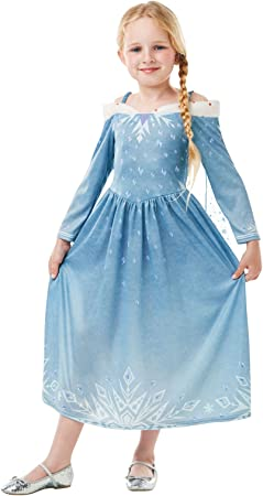 Frozen - Disfraz de princesa Elsa para niña, infantil 5-6 años ...