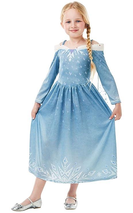 Frozen - Disfraz de princesa Elsa para niña, infantil 5-6 años (Rubies