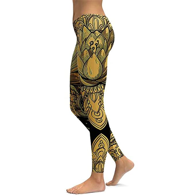Amazon.com: SuperLina Lotus Fitness - Pantalones de yoga ...