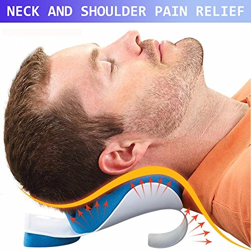Cervical Pillow Neck and Shoulder Pain Relief Massage Traction Device Support Relaxer by KASQA (Image #6)