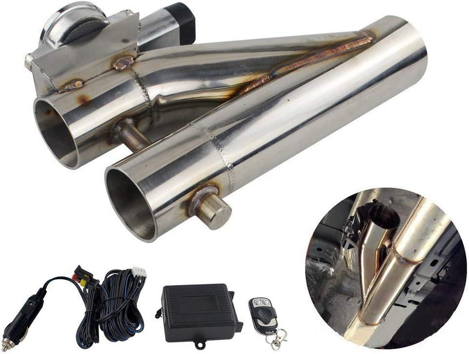 JFYCUICAN Accesorios para el Coche Coche Modificado Variable Control eléctrico Tubo de Escape Válvula de Control Doble Kit de Corte de Escape 2.5 Pulgadas 3 Pulgadas (Color : Plata, Size : 2.5)