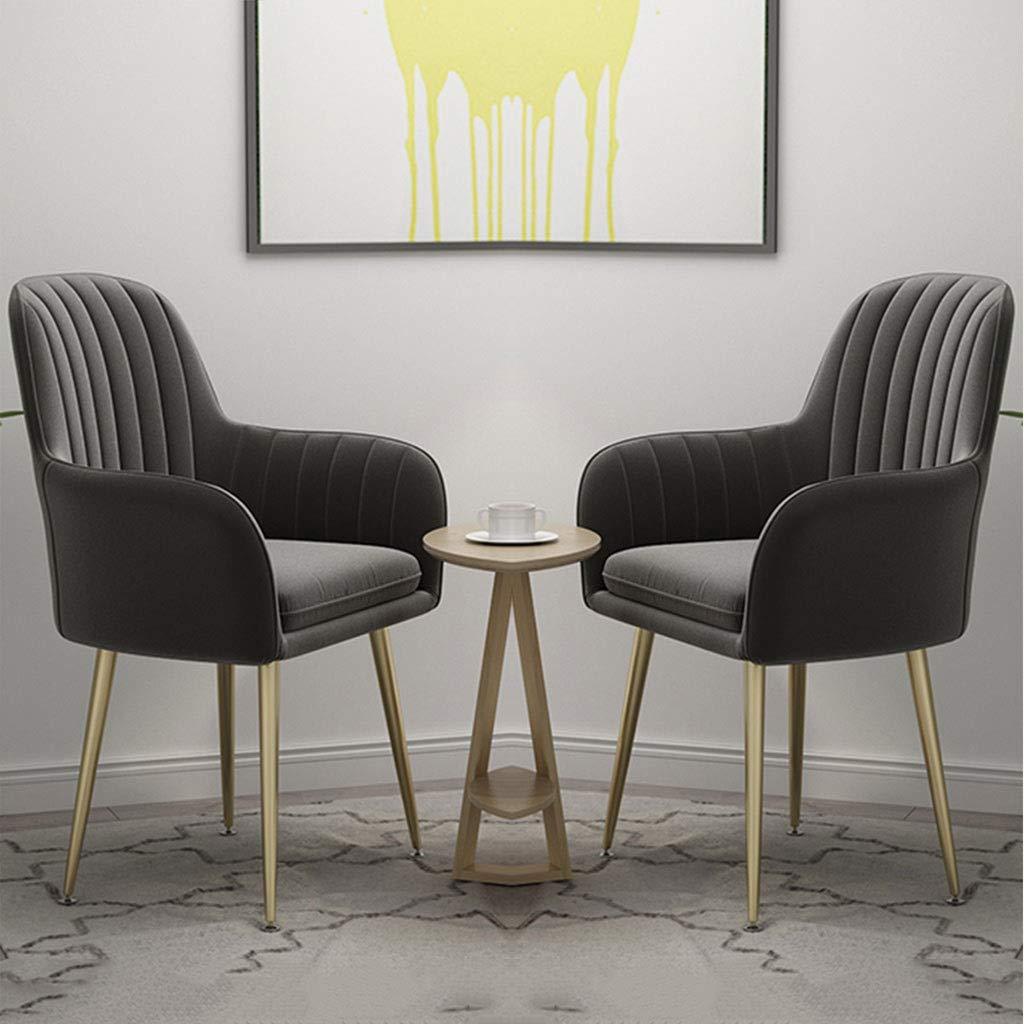 HEJINXL Matstolar av sammet, vardagsrum vardagsrum vardagsrum stol oberoende dyna titan guld rostfritt stål halkfri fot roterbar justering hotellmottagningsstol matstol Mörkgrått