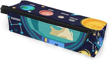 Estuche de bolsa de lápiz Gafas de sol de dibujos animados Space Galaxy Sistema Solar Planeta Cosmético Estudiantes Papelería Bolsa Cremallera para niñas Niños: Amazon.es: Oficina y papelería